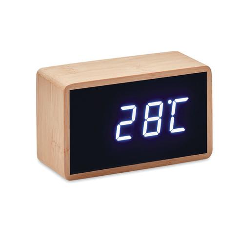 Miri Clock - LED alarm clock bamboo casing