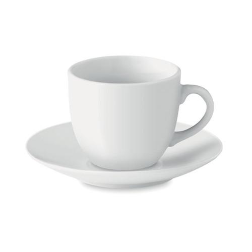 Espresso, ceasca expresso cu farfurioara, cu capacitate de 80 ml si cu posibilitate de personalizare corporate
