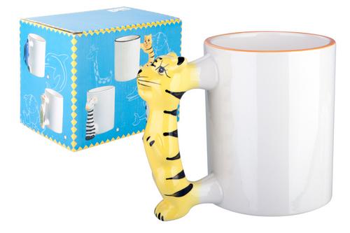 Tiger, cana pentru copii cu design in forma de tigru pe maner si cu posibilitate de personalizare corporate