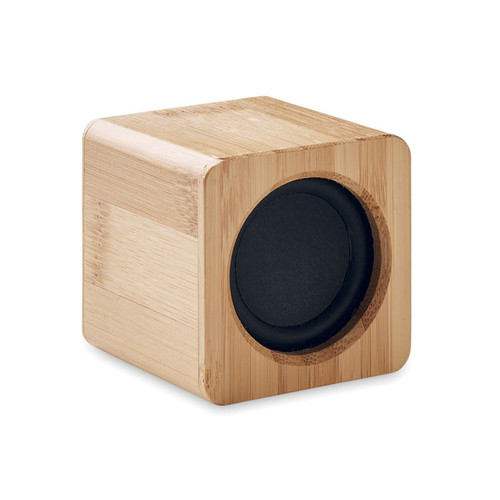 boxa wireless 5.0 cu carcasă din bambus