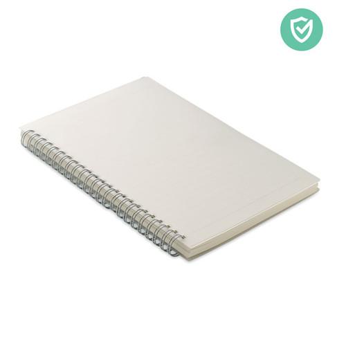 Agenda A5 cu coperți antibacteriane din PP și 80 de pagini liniate din hârtie reciclată