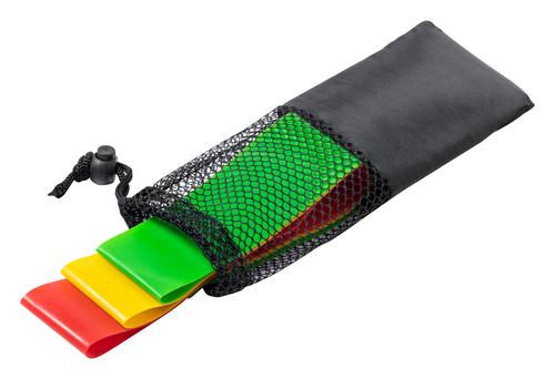 Bork, set de benzi elastice din cauciuc TPE, pentru exercitii, in husa de transport cu snur si cu posibilitate de personalizare corporate