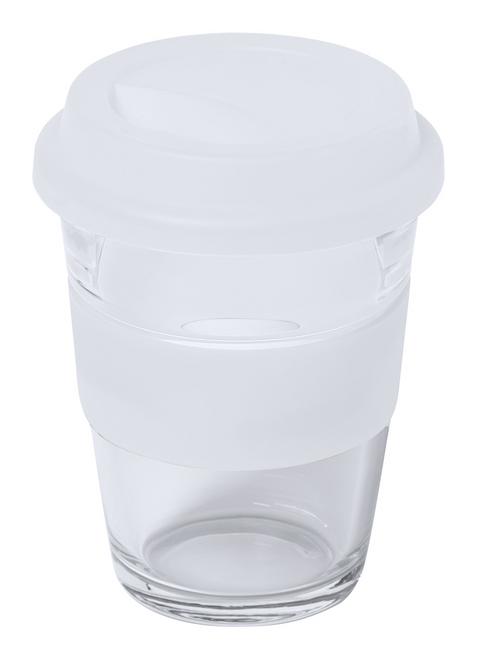Durnox, cana de calatorie din sticla cu perete unic, capac de baut si inel din silicon, cu posibilitate de personalizare corporate