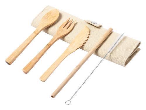 Corpax, set de 5 tacamuri de bambus cu posibilitate de personalizare corporate