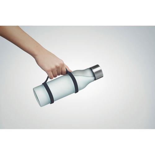 Sticla sport cu dispozitiv de transport din silicon si cu posibilitate de personalizare corporate