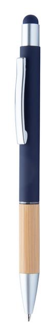 Zabox, pix din aluminium si bambus, cu touch pentru telefon culoare albastra cu personalizare
