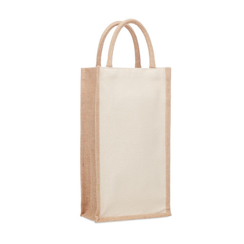 Campo Di Vino Duo - Jute wine bag for two bottles