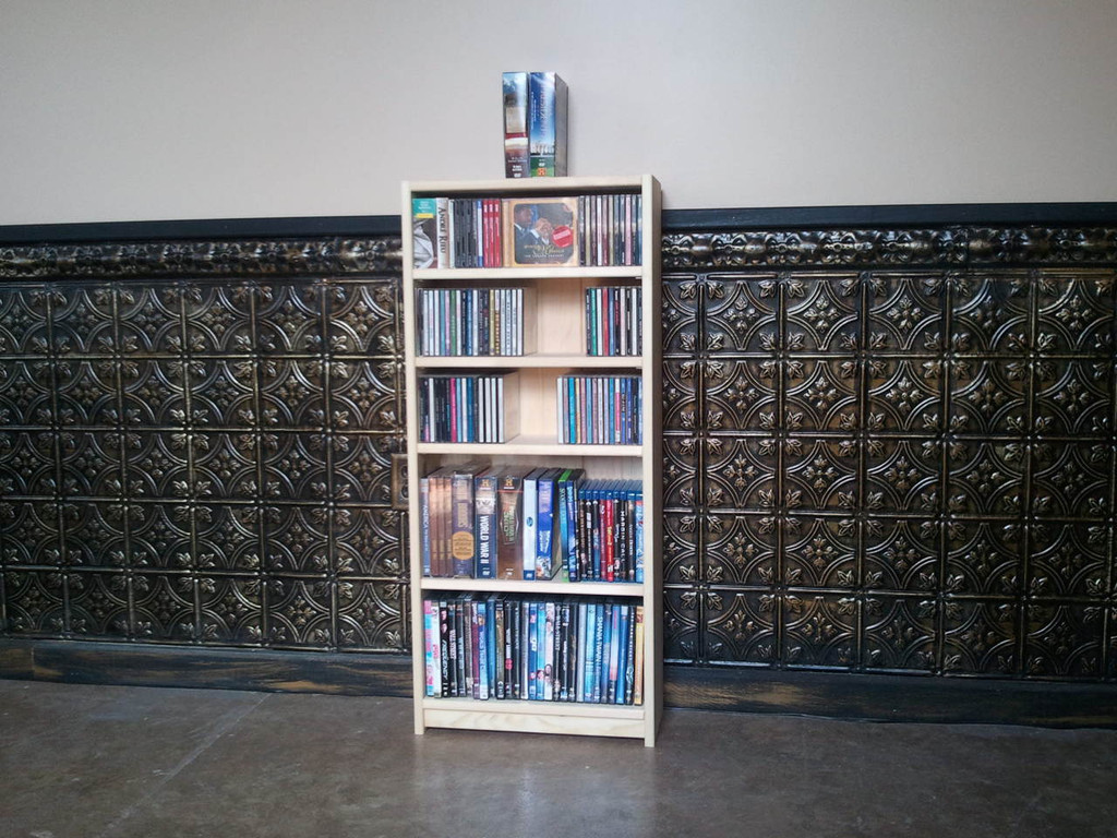 "18""W x 40""H CD/DVD Bookcase"
