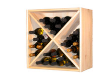 Set of 2 solid pine wine cubes.