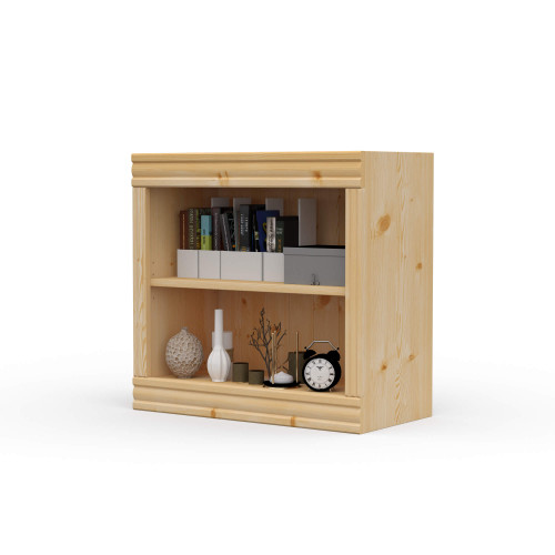 "24"" Wide x 23"" High x 12""D Traditional Framed Solid Pine Bookcase.  Holds your books and more."