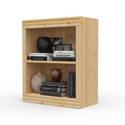"24"" Wide x 29"" High x 12""D Traditional Framed Solid Pine Bookcase.  Holds your books and more."