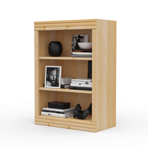 "24"" Wide x 34"" High x 12""D Traditional Framed Solid Pine Bookcase.  Holds your books and more."