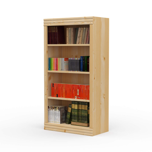 "24"" Wide x 46"" High x 12""D Traditional Framed Solid Pine Bookcase.  Holds your books and more."