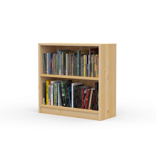 "24"" Wide x 23"" High x 9.25"" Deep Contemporary Solid Pine Bookcase holds all your books and more."