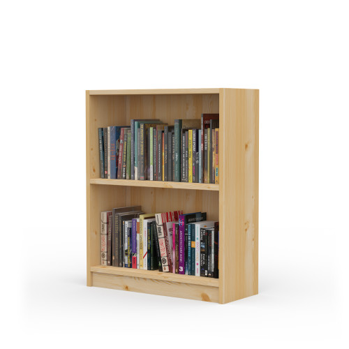 "24"" Wide x 29"" High x 9.25"" Deep Contemporary Solid Pine Bookcase holds your books and more."