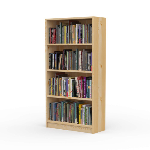 "24"" Wide x 46"" High x 9.25"" Deep Contemporary Solid Pine Bookcase holds all your books and more."