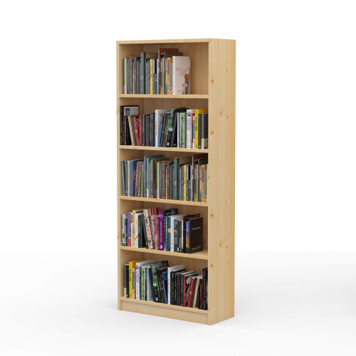 "24"" Wide x 58"" High x 9.25"" Deep Contemporary Solid Pine Bookcase Holds all your books and more."