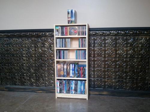 "40""H CD/DVD Paperback Bookcase"