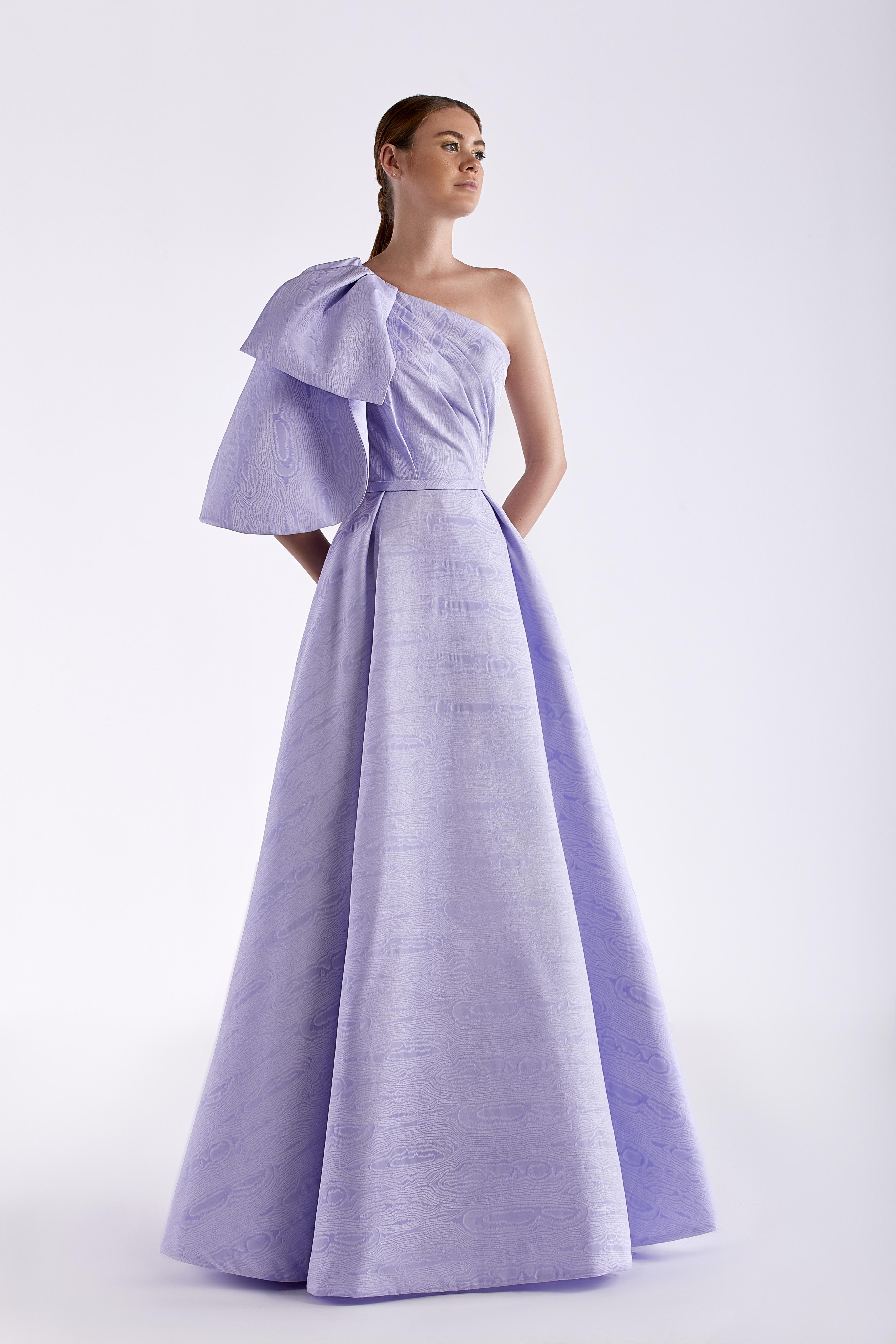 One Shoulder Taffeta Dress
