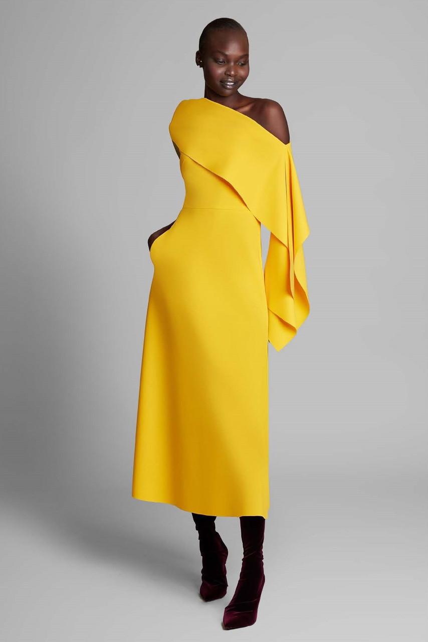 Greta Constantine Brigiton Cold Shoulder Midi Dress