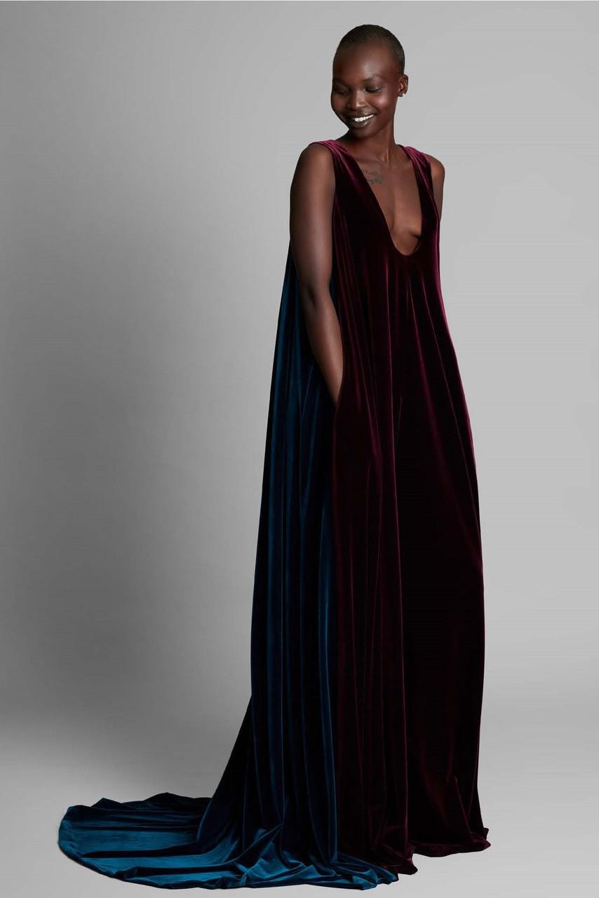 Greta Constantine Eriikah Color-block Gown