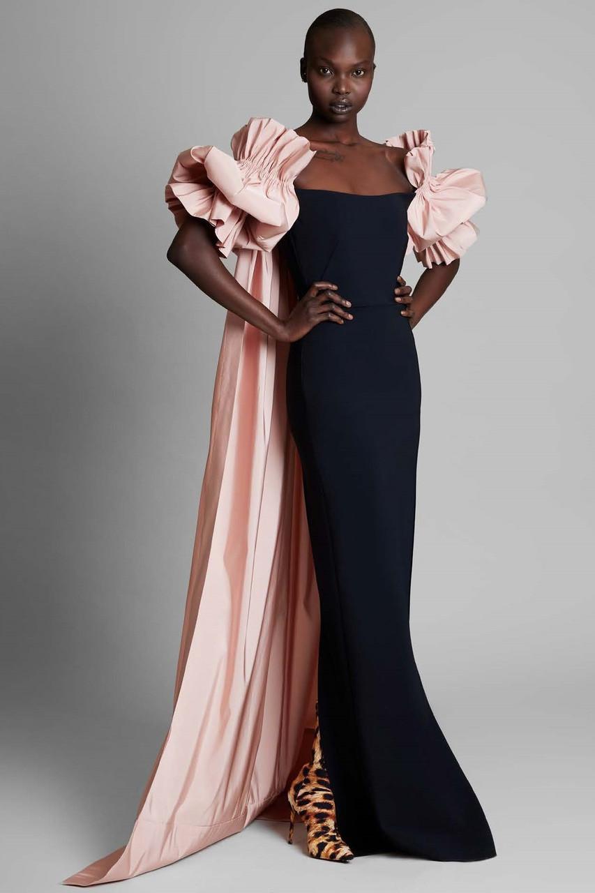 Greta Constantine Munch Cape Gown