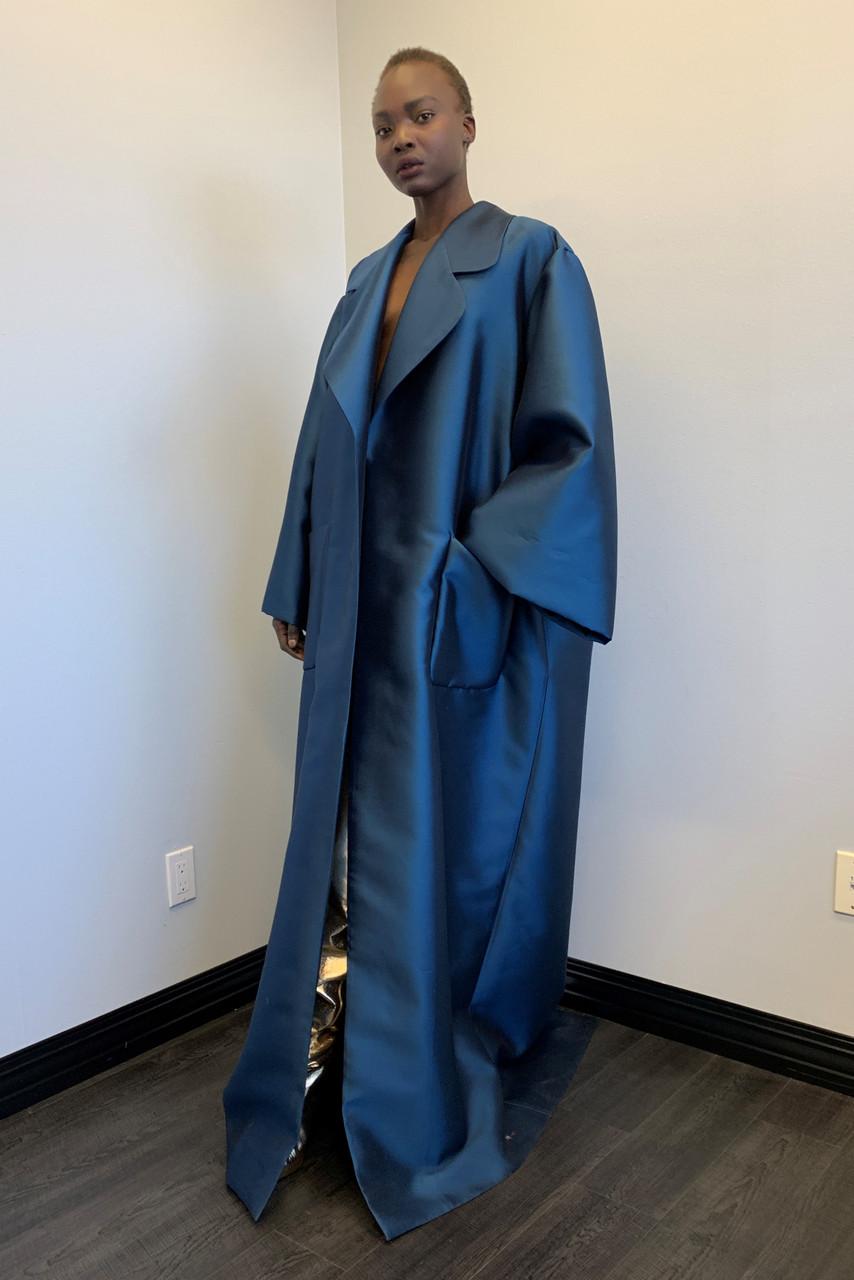 Greta Constantine Da Vinci Silk Wool Coat