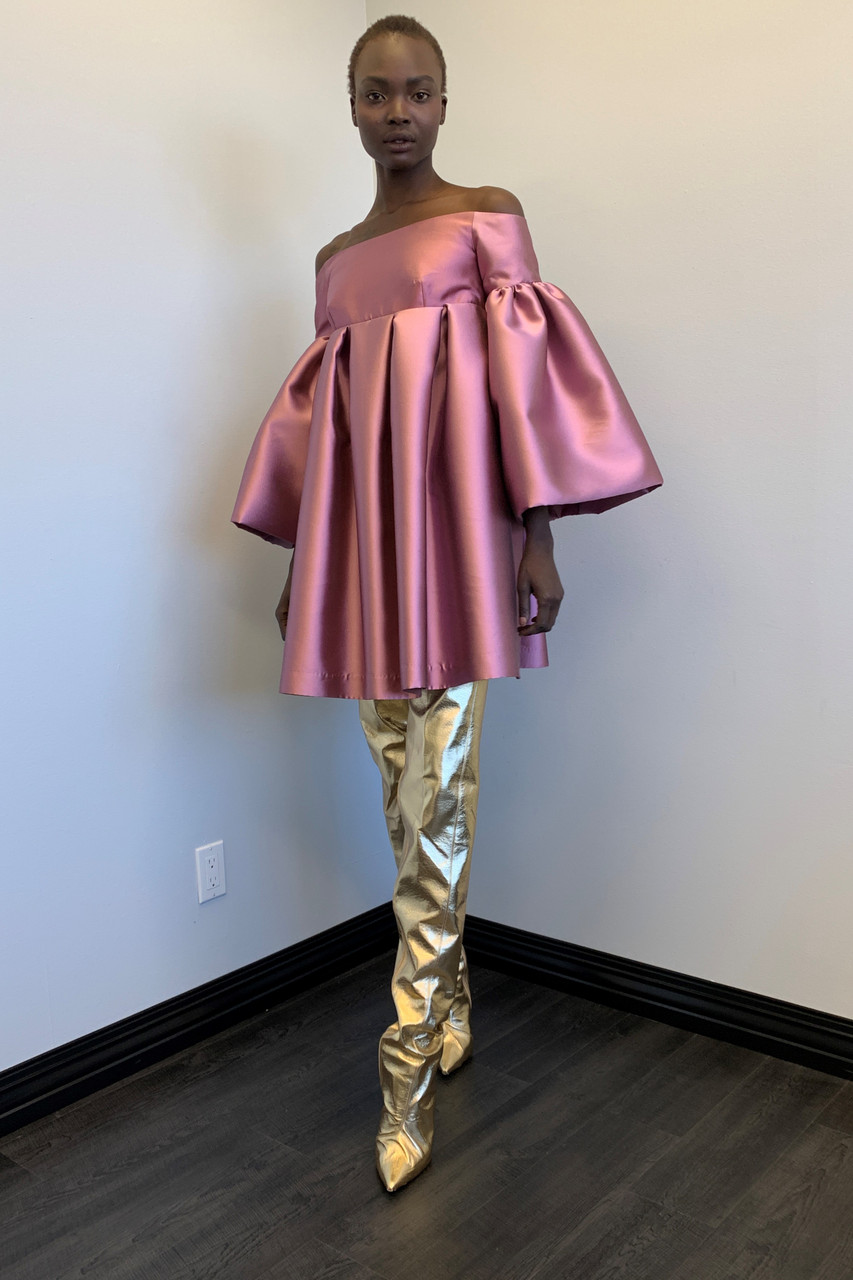 Greta Constantine Kahlo Silk Wool Dress