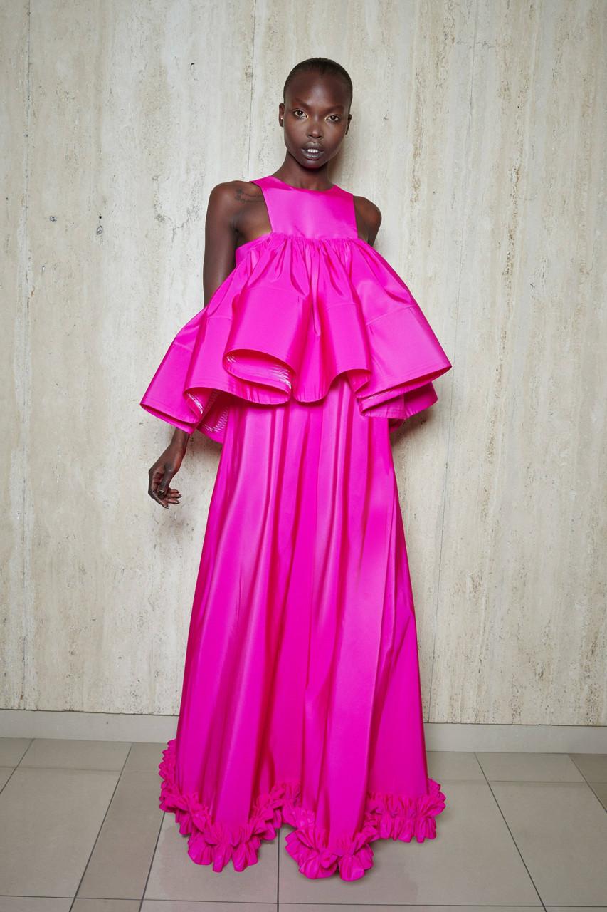 Greta Constantine Sherbourne Ruffled Gown