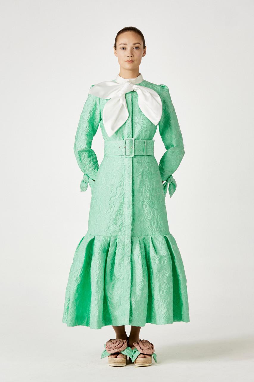 Khoon Hooi LYLA TEXTURED BROCADE SHIRT DRESS