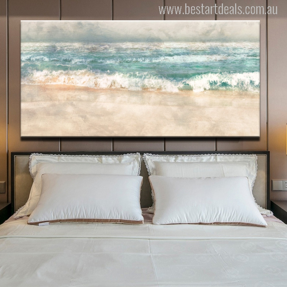 Abstract Beach Surf Landscape Print for Bedroom Decor