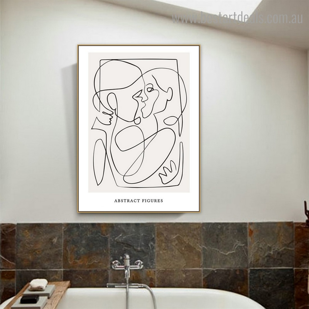 Abstract Figures Modern Framed Painting Picture Canvas Print for Room Wall Ornament