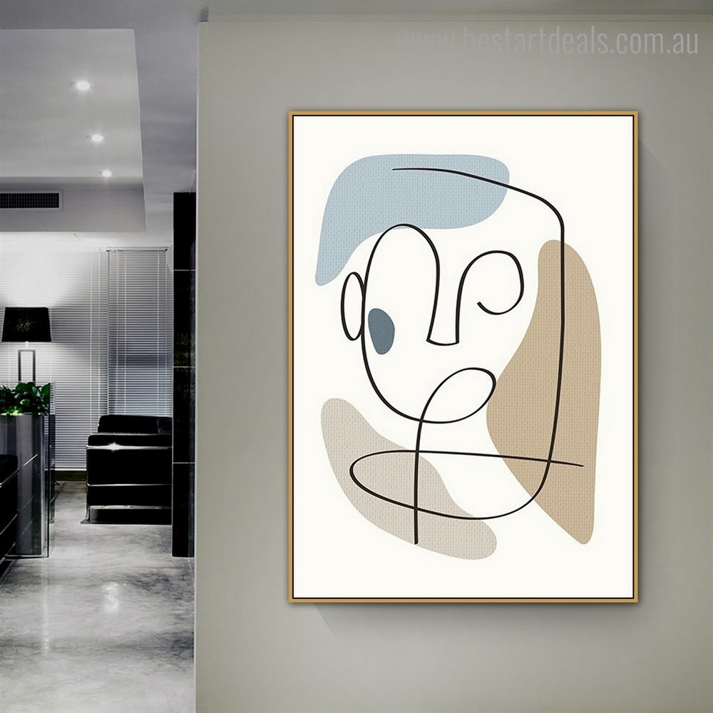 Slurs Abstract Modern Framed Painting Photograph Canvas Print for Room Wall Garniture