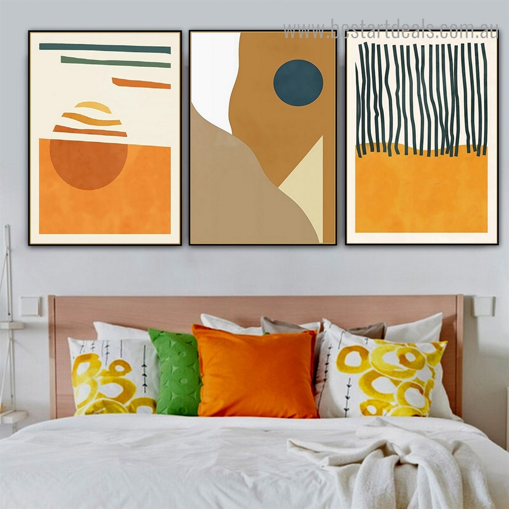 Resections Abstract Scandinavian Framed Artwork Picture Canvas Print for Room Wall Decor
