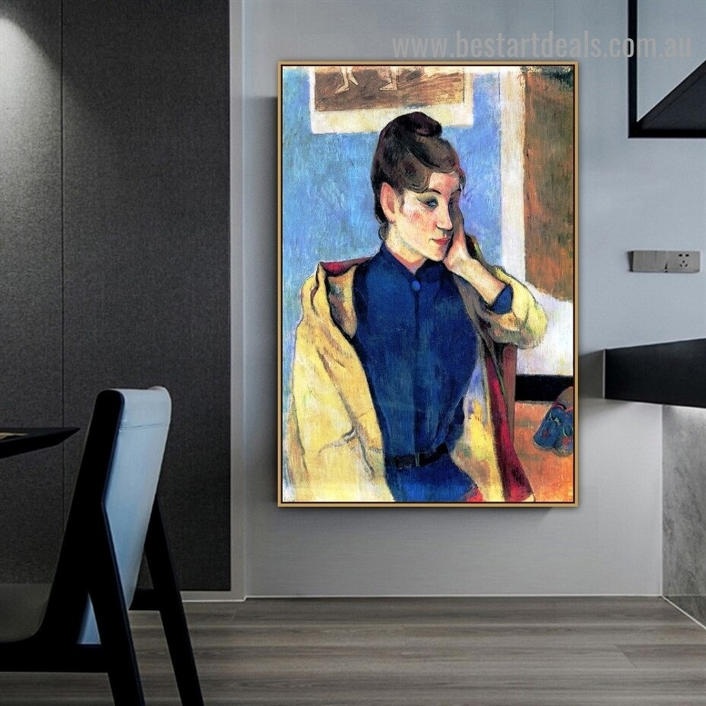 Portrait of Madeleine Bernard Eugène Henri Paul Gauguin Figure Impressionist Artwork Image Canvas Print for Room Wall Garniture