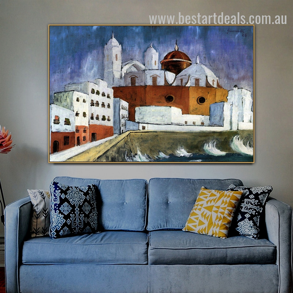 Cadiz Walter Gramatte Cityscape Expressionism Painting Photo Canvas Print for Room Wall Flourish