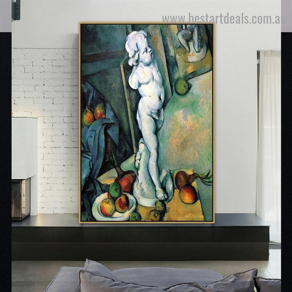 Still Life with Plaster Cupid Paul Cézanne Post Impressionism Reproduction Portrait Image Canvas Print for Room Wall Ornament