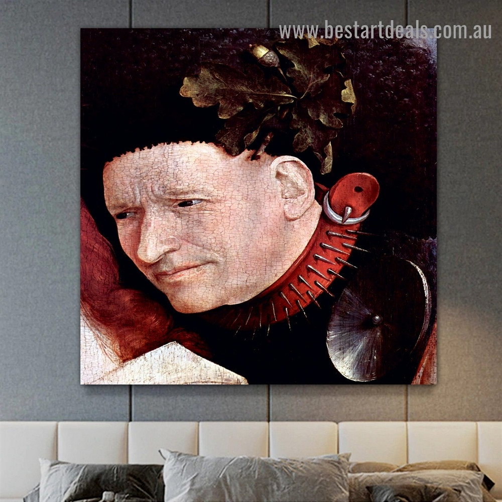 Crowned with Thorns I Hieronymus Bosch Figure Northern Renaissance Reproduction Artwork Portrait Canvas Print for Room Wall Garniture
