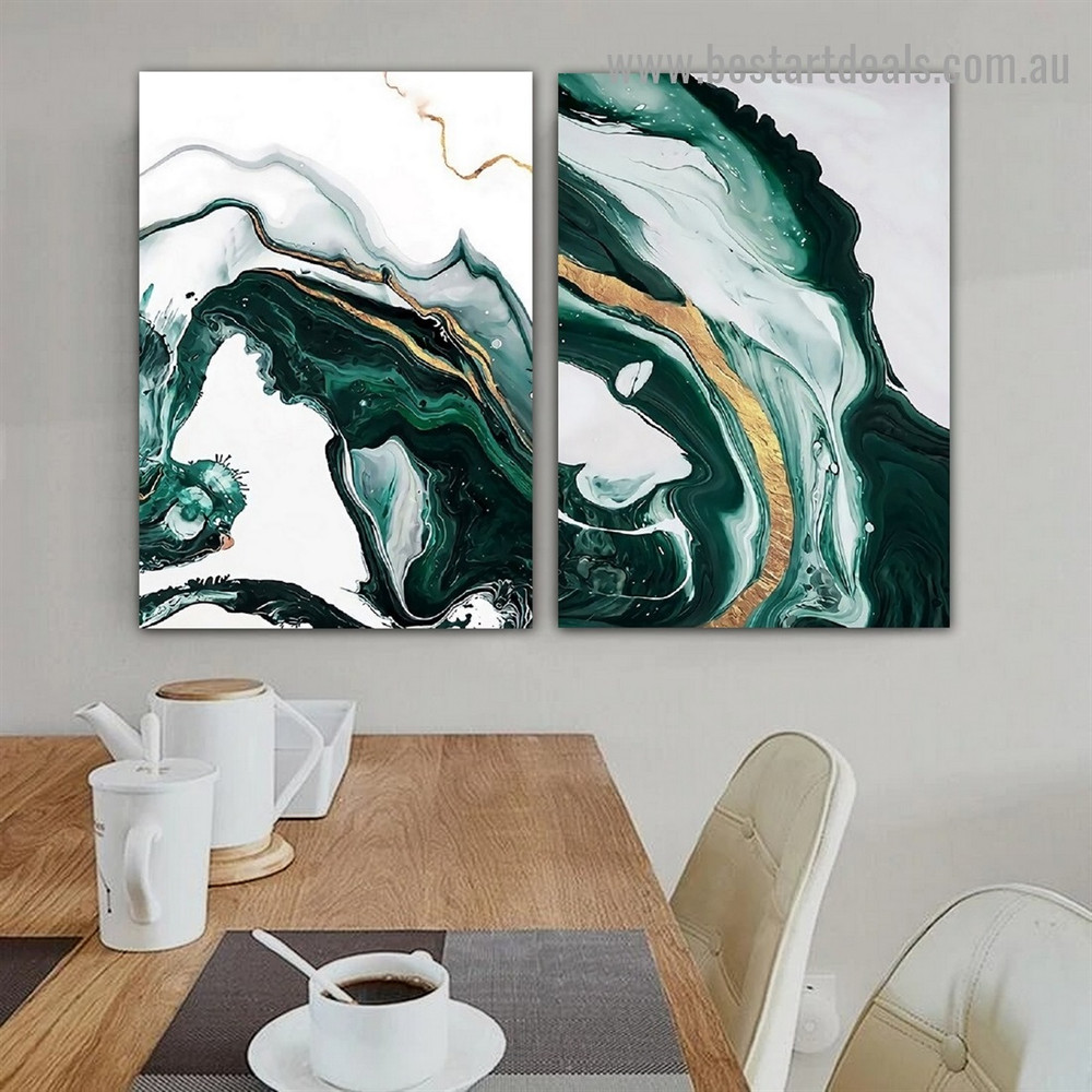 Dapple Stripes Marble Abstract Modern Framed Portrait Picture Canvas Print for Room Wall Drape