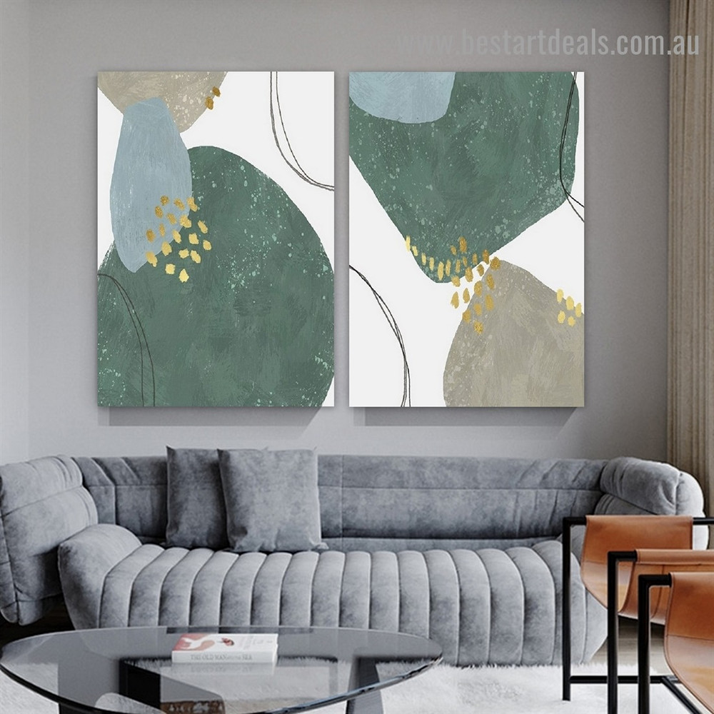 Dapple Blemish Art Abstract Modern Framed Artwork Picture Canvas Print for Room Wall Spruce