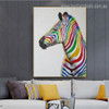 Calico Equus Burchelli Abstract Animal Modern Resemblance Image Canvas Print for Room Wall Outfit