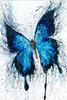 Bluish Butterfly Abstract Animal Framed Painting Picture Canvas Print