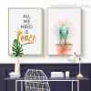 Turbinicarpus Wort Contemporary Framed Smudge Photo Canvas Botanical Print for Room Wall Assortment