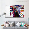 Tribal Mademoiselle Figure Framed Tableau Photo Canvas Floral Wall Print for Room Wall Disposition