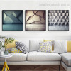 Geometric Design Abstract Framed Painting Picture Canvas Print for Room Wall Disposition