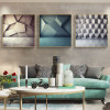 Geometric Design Abstract Framed Painting Picture Canvas Print for Living Room Wall Tracery