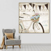 Bicycle Abstract Vintage Framed Effigy Photo Canvas Print for Living Room Wall Molding
