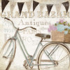Panniers Abstract Vintage Framed Smudge Picture Canvas Print
