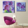 Poppy and Rose Abstract Watercolor Botanical Framed Painting Portrait Canvas Print for Room Wall Disposition