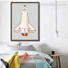 Space Shuttle Atlantis Abstract Contemporary Framed Painting Picture Canvas Print for Room Wall Decoration